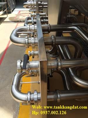 Lắp đặt đường ống inox vi sinh, thực phẩm.