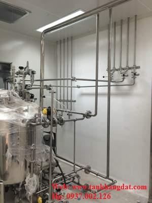 Đường ống vi sinh dược phẩm, hóa mỹ phẩm.