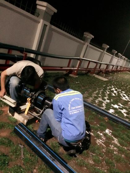 Thi công đường ống HDPE, PPR, uPVC